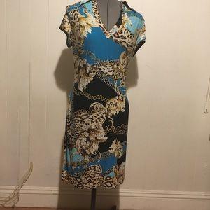 Beautiful pattern Cache dress size medium